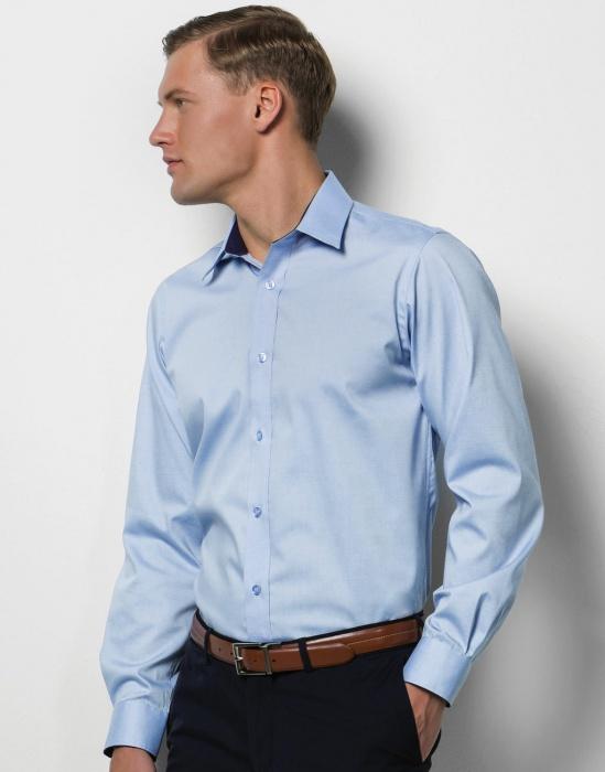 GastroPEX.cz - Pánská košile s dlouhým rukávem Contrast Premium Oxford  Kustom Kit 6b3fb295ea