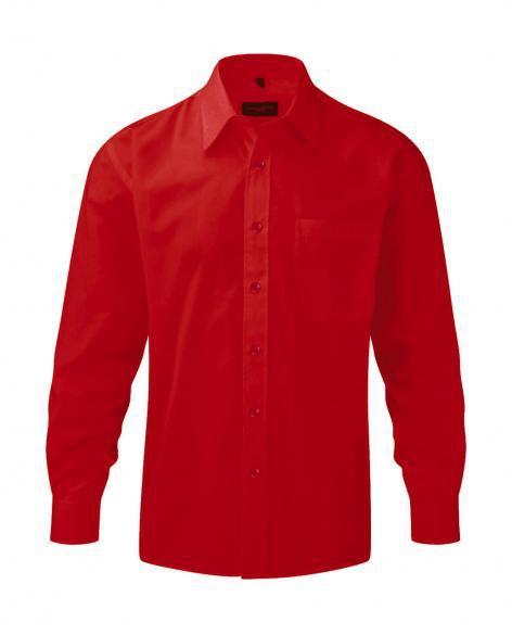 b163ad2fa77 Pánská košile s dlouhým rukávem Poplin Russell europe